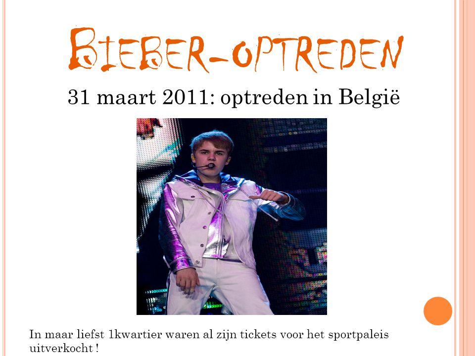 31 maart 2011: optreden in België