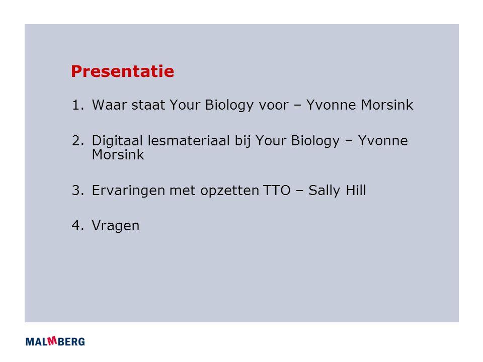 Presentatie Waar staat Your Biology voor – Yvonne Morsink