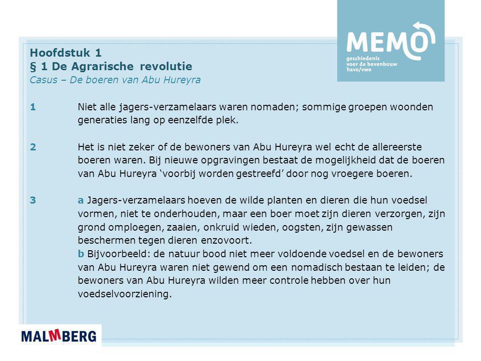 § 1 De Agrarische revolutie