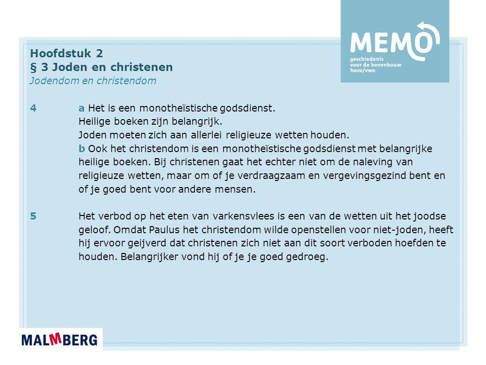 Hoofdstuk 2 § 3 Joden en christenen Jodendom en christendom