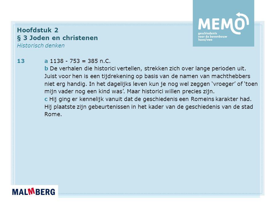 Hoofdstuk 2 § 3 Joden en christenen Historisch denken