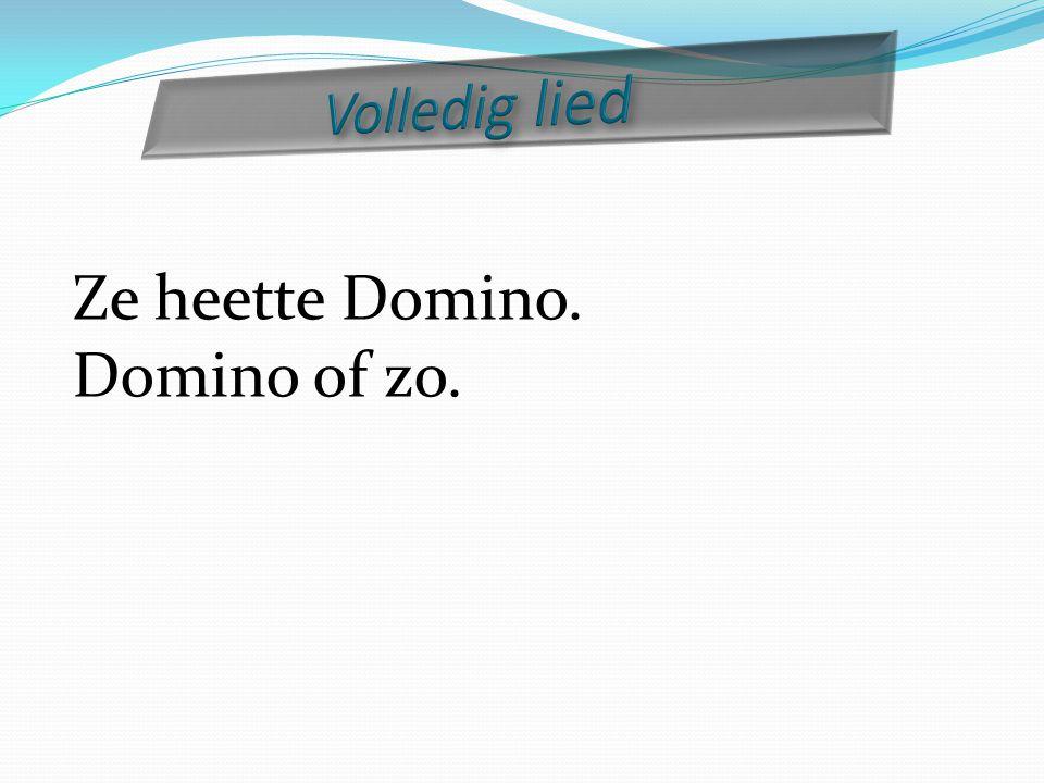 Volledig lied Ze heette Domino. Domino of zo.