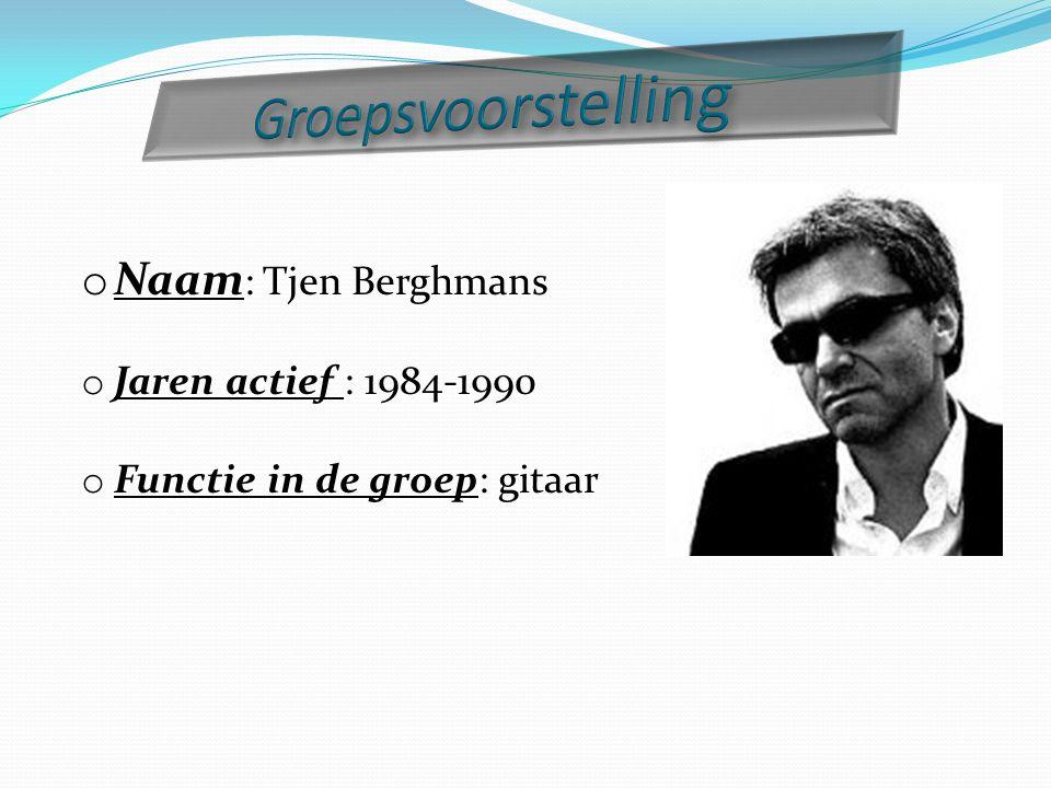 Groepsvoorstelling Naam: Tjen Berghmans Jaren actief : 1984-1990