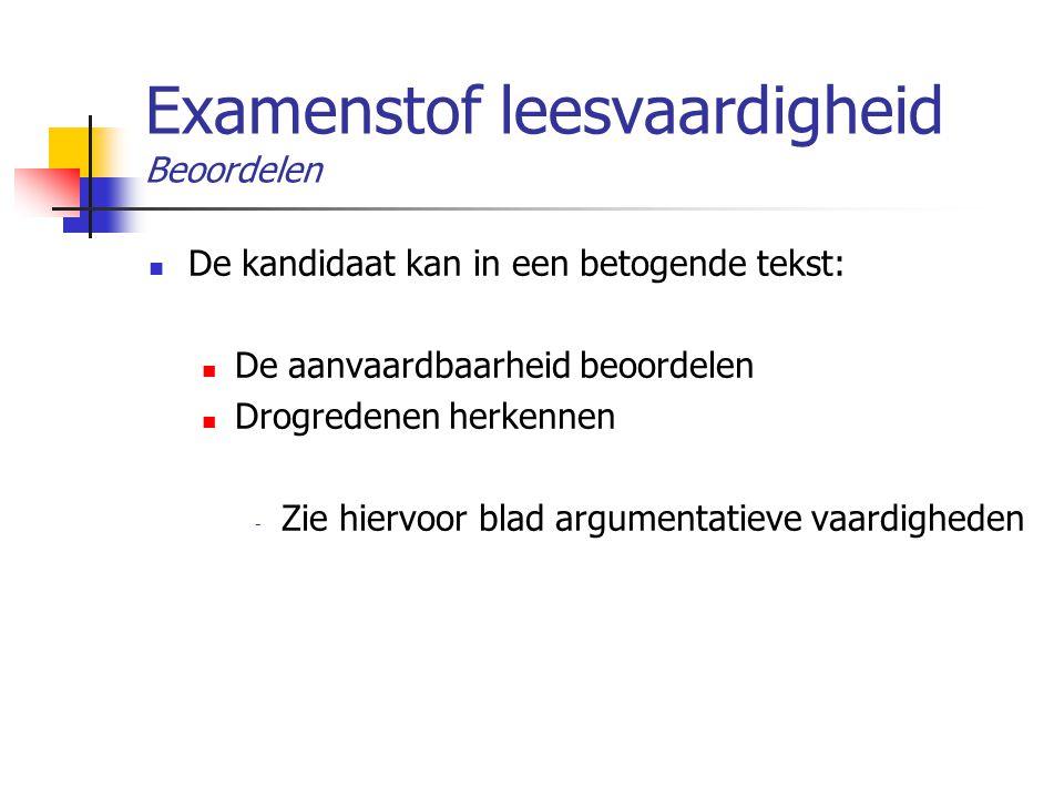 Examenstof leesvaardigheid Beoordelen