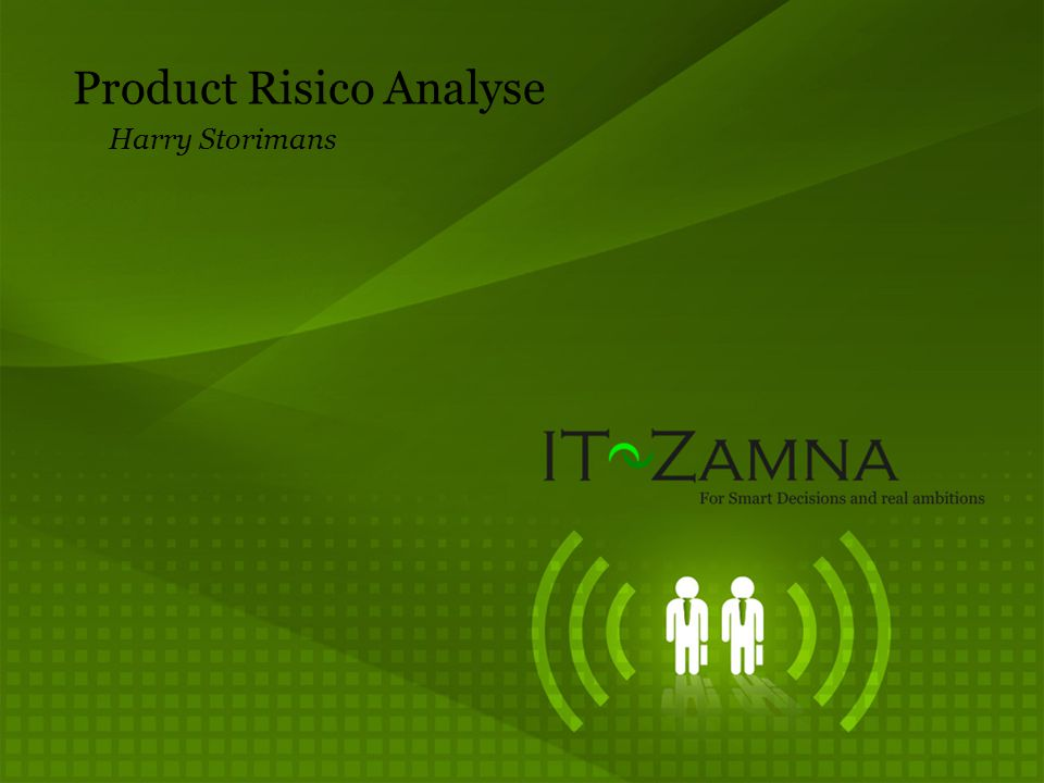 Product Risico Analyse