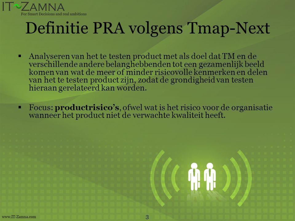 Definitie PRA volgens Tmap-Next