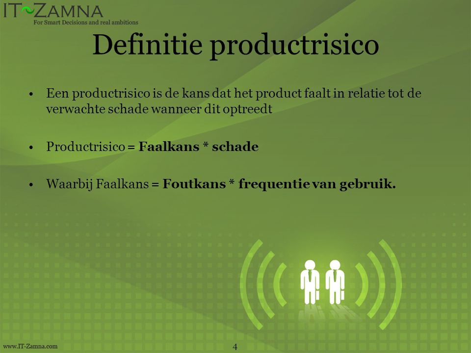 Definitie productrisico