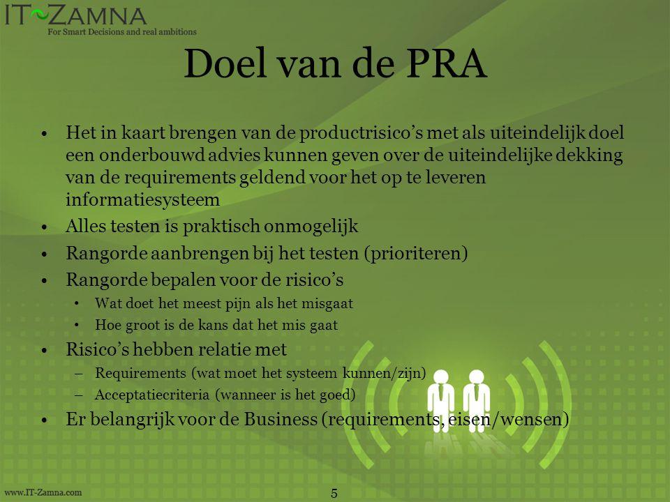 Doel van de PRA