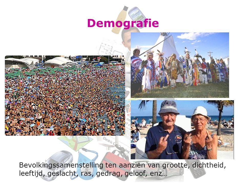 Demografie Bevolkingssamenstelling ten aanzien van grootte, dichtheid,