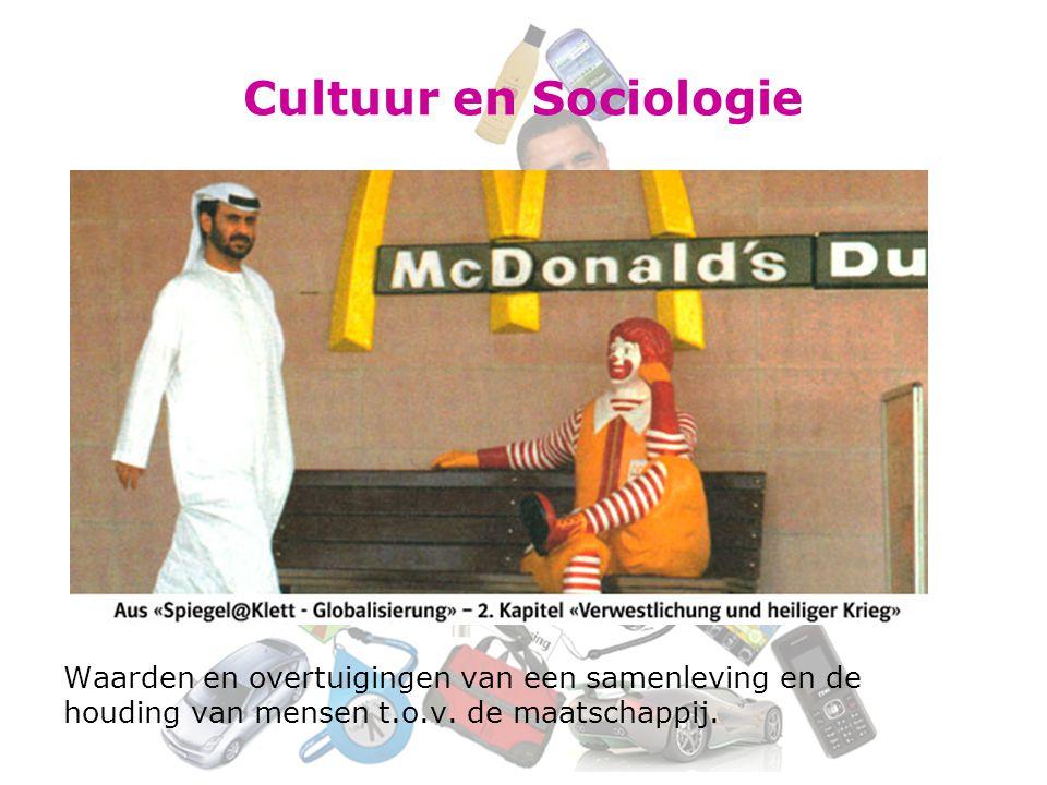 Cultuur en Sociologie Waarden en overtuigingen van een samenleving en de.
