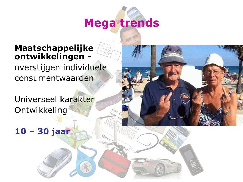 Mega trends Maatschappelijke ontwikkelingen - overstijgen individuele