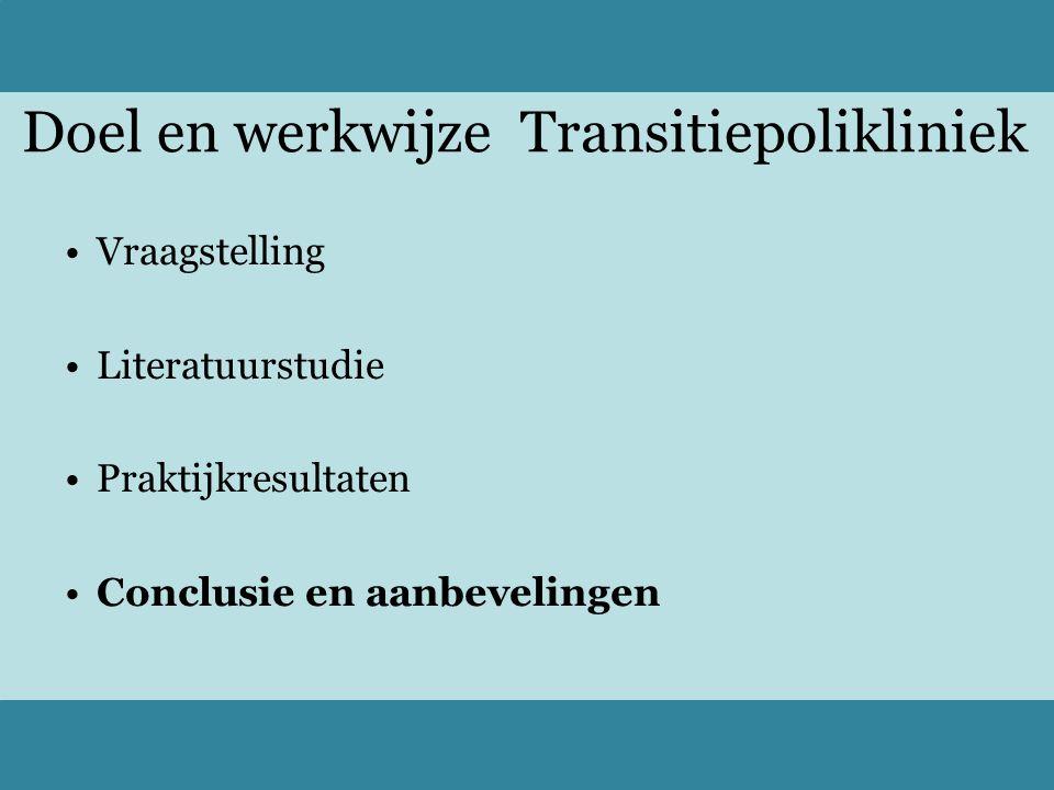 Doel en werkwijze Transitiepolikliniek