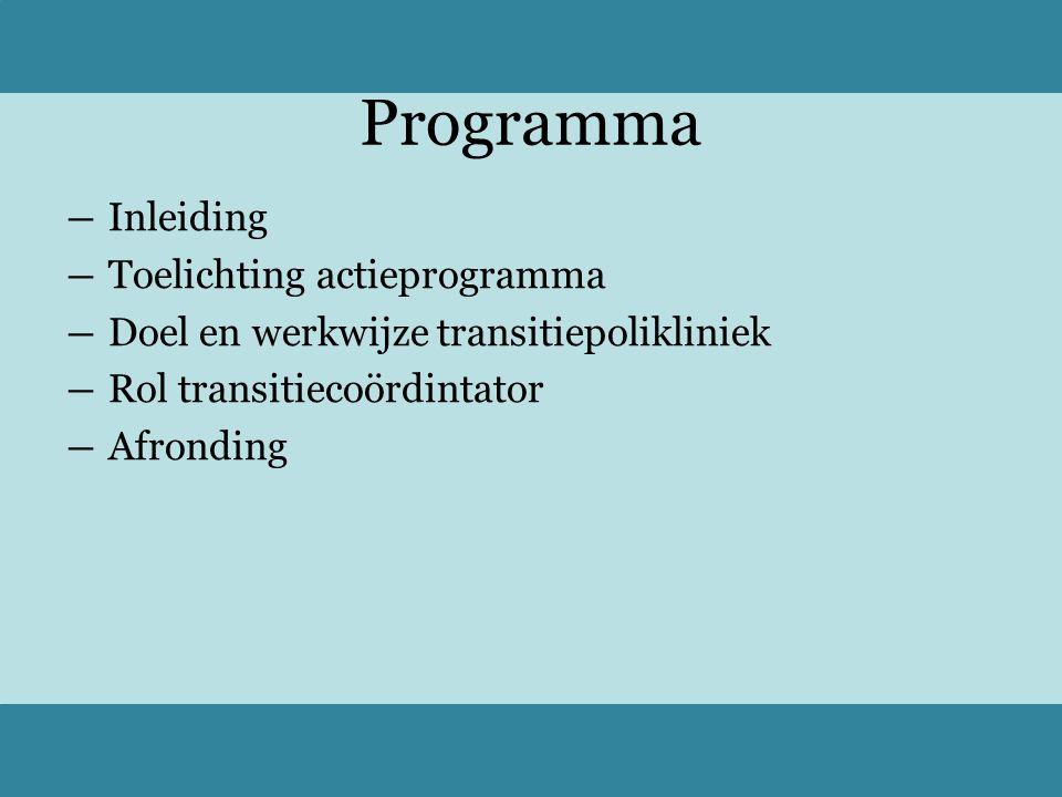 Programma Inleiding Toelichting actieprogramma