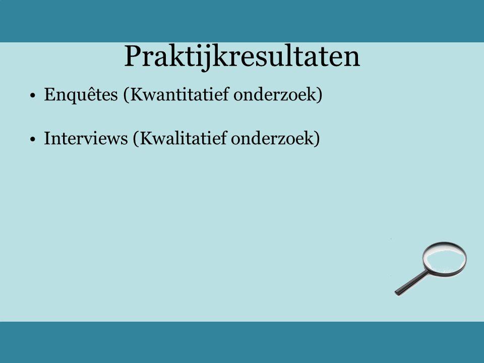 Praktijkresultaten Enquêtes (Kwantitatief onderzoek)