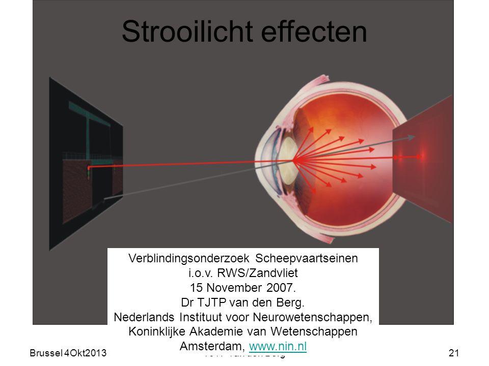 Strooilicht effecten Verblindingsonderzoek Scheepvaartseinen