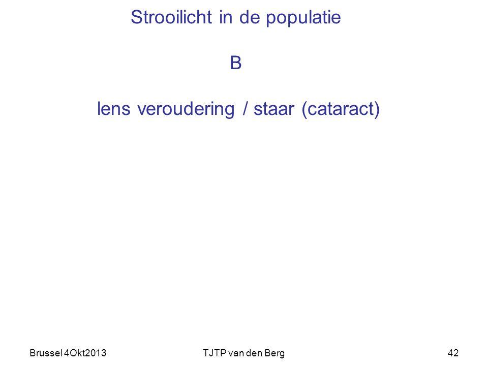 Strooilicht in de populatie B lens veroudering / staar (cataract)