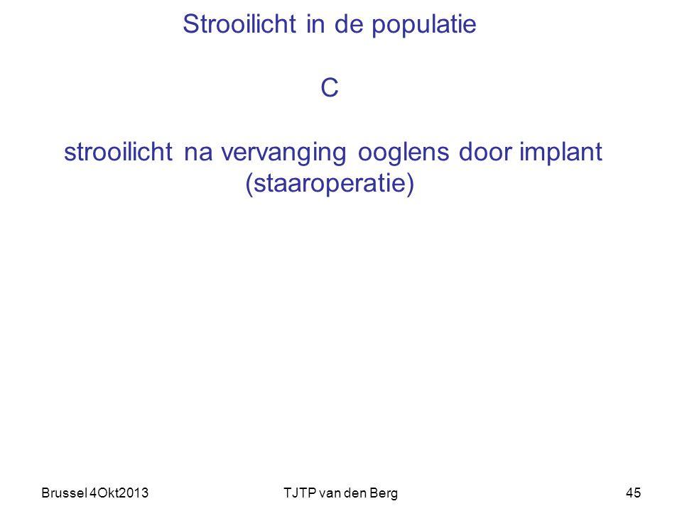 Strooilicht in de populatie C