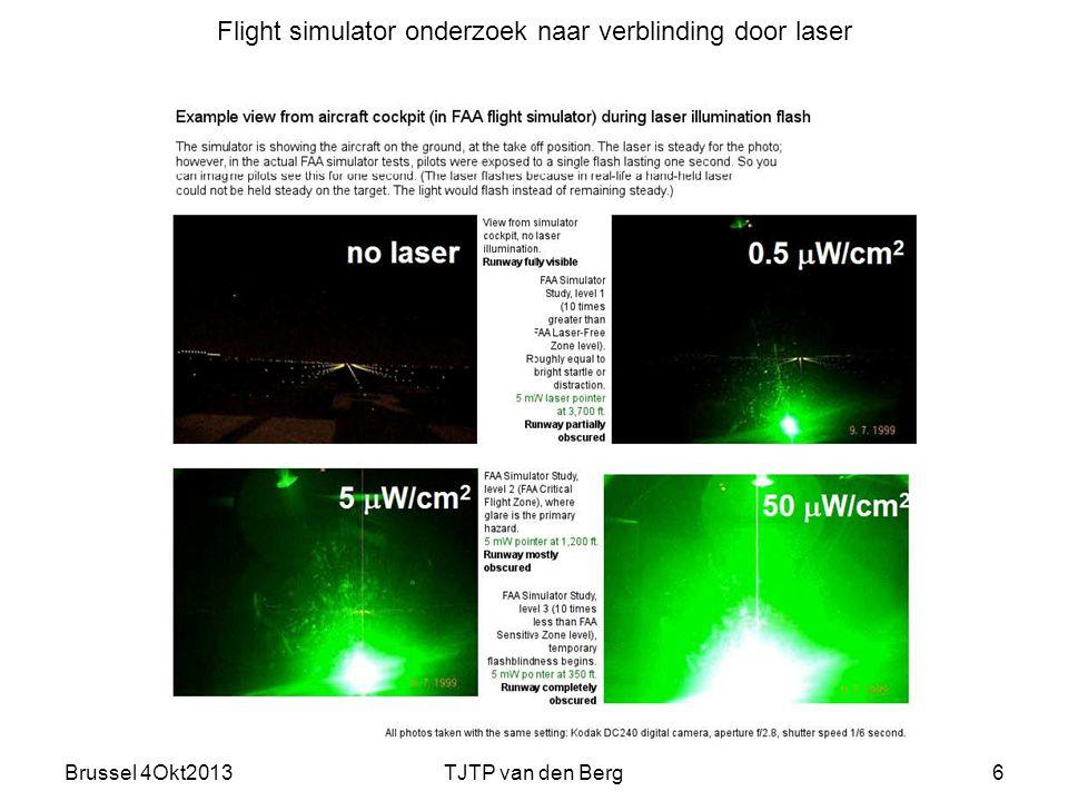 Flight simulator onderzoek naar verblinding door laser