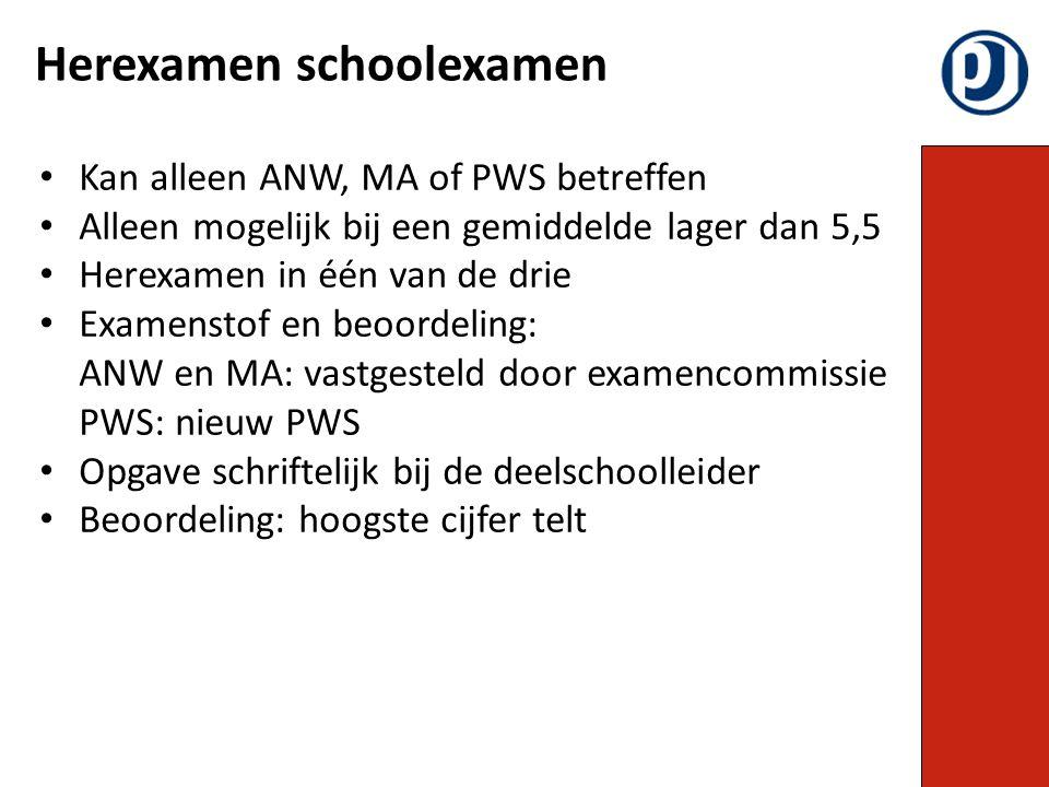 Herexamen schoolexamen