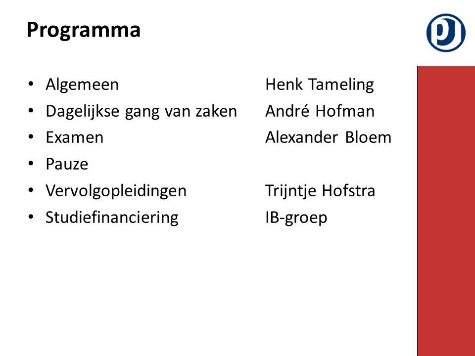 Programma Algemeen Henk Tameling