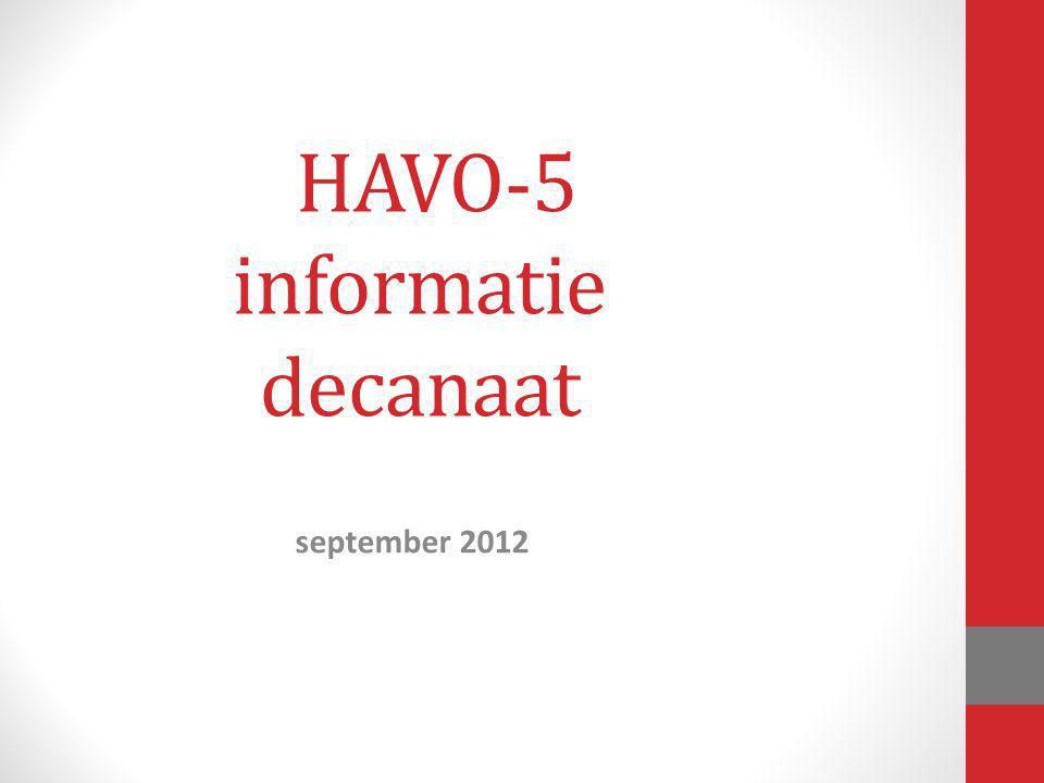 HAVO-5 informatie decanaat