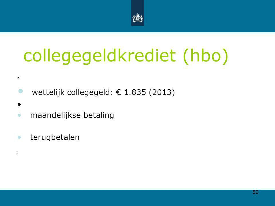 collegegeldkrediet (hbo)