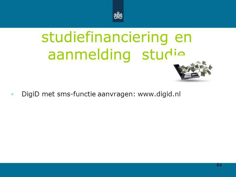 studiefinanciering en aanmelding studie