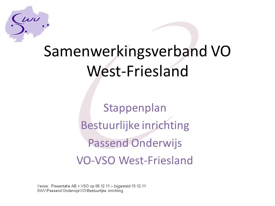 Samenwerkingsverband VO West-Friesland