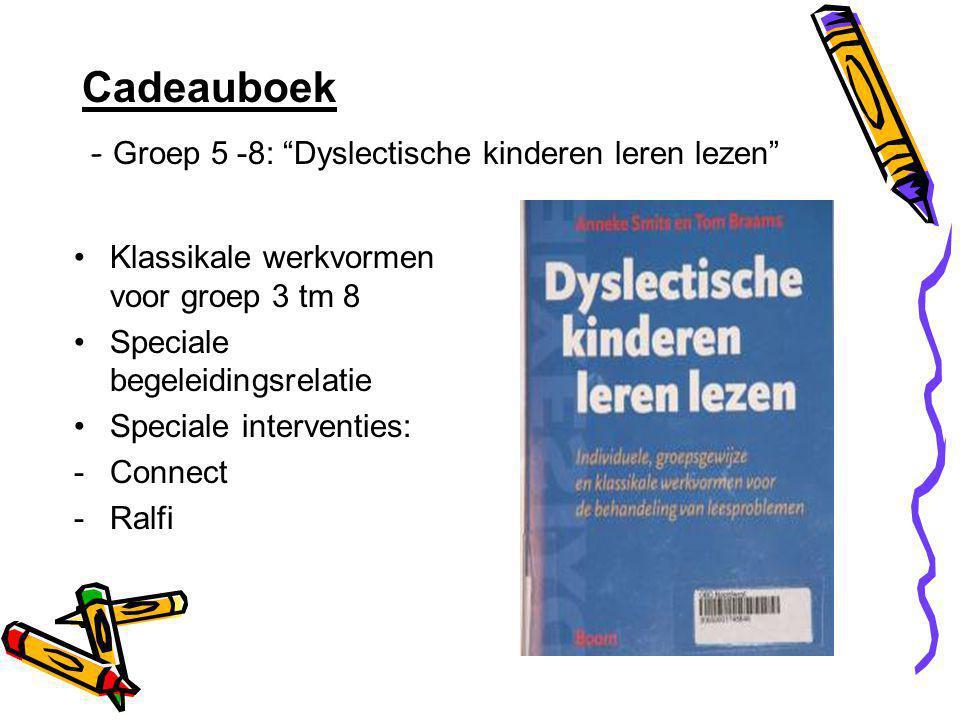 Cadeauboek - Groep 5 -8: Dyslectische kinderen leren lezen