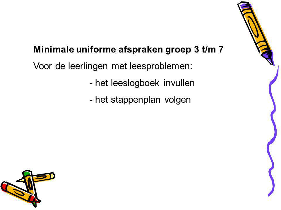 Minimale uniforme afspraken groep 3 t/m 7