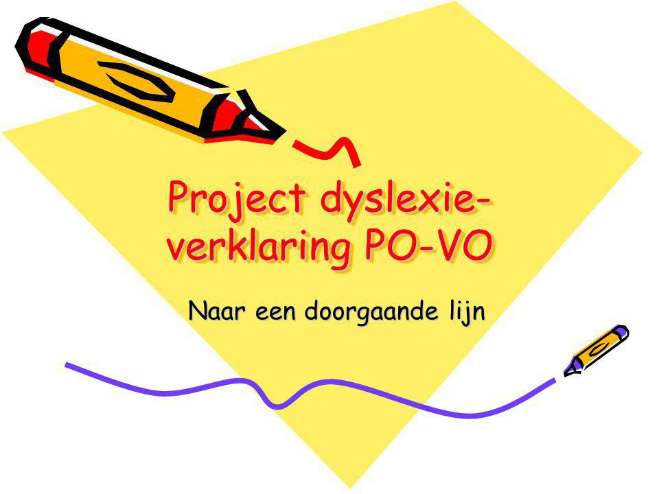 Project dyslexie- verklaring PO-VO