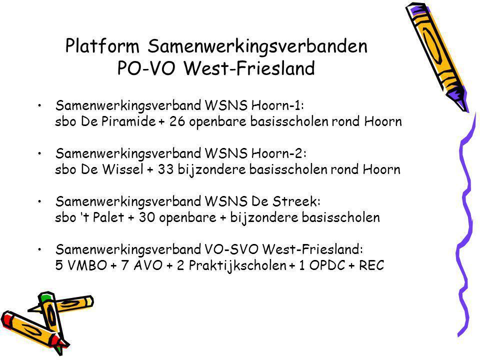 Platform Samenwerkingsverbanden PO-VO West-Friesland