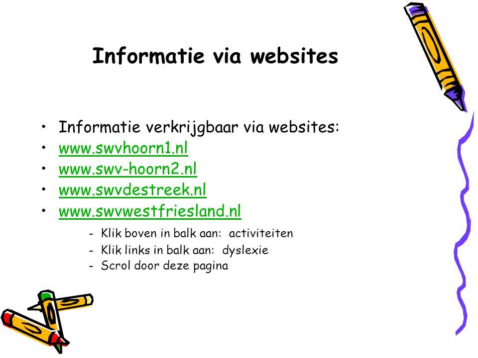 Informatie via websites