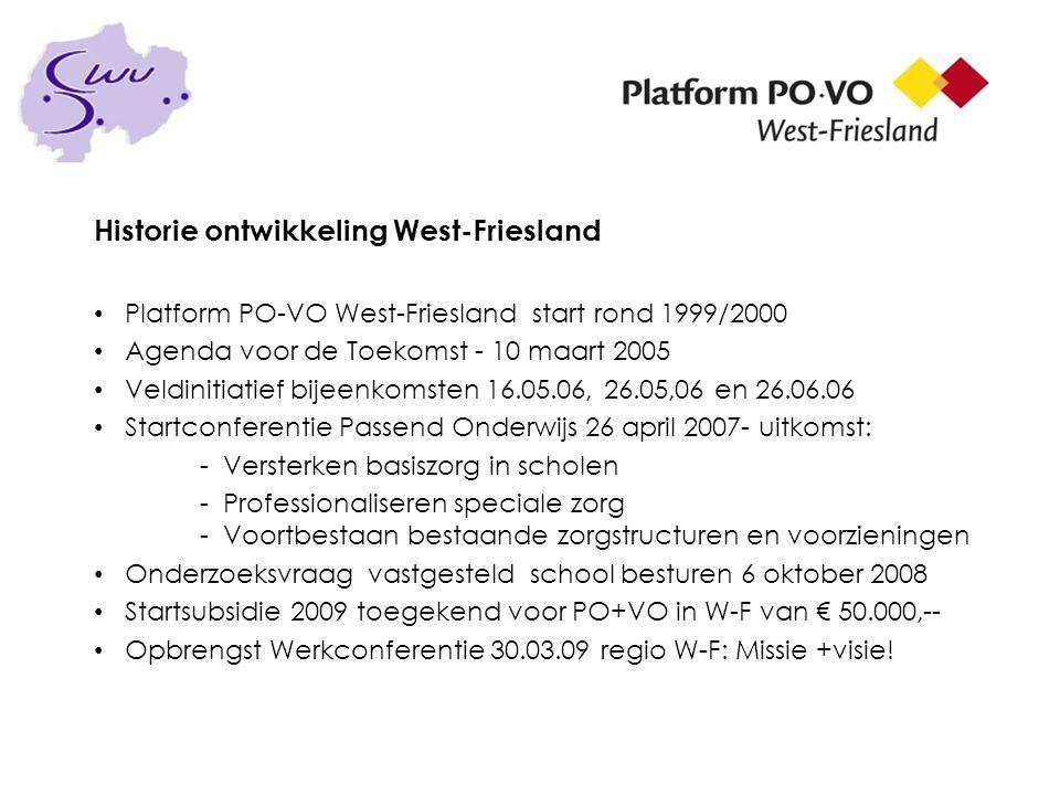 Historie ontwikkeling West-Friesland