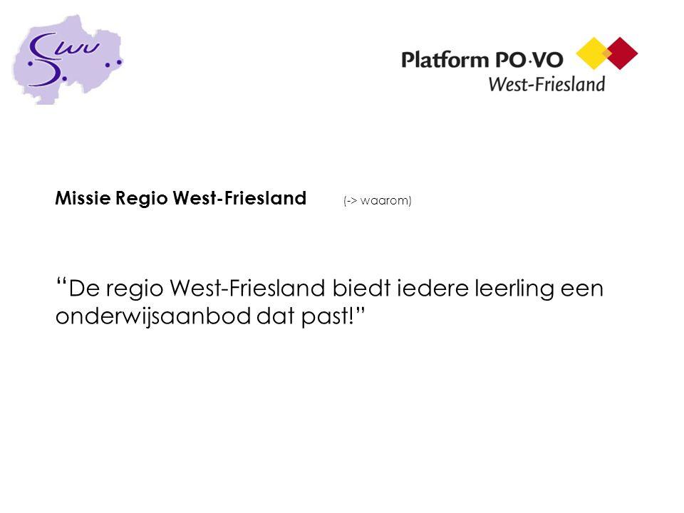 Missie Regio West-Friesland (-> waarom)