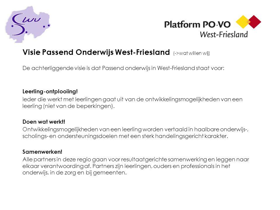 Visie Passend Onderwijs West-Friesland (->wat willen wij)