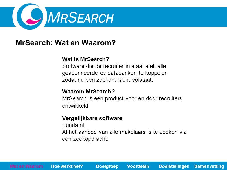 MrSearch: Wat en Waarom