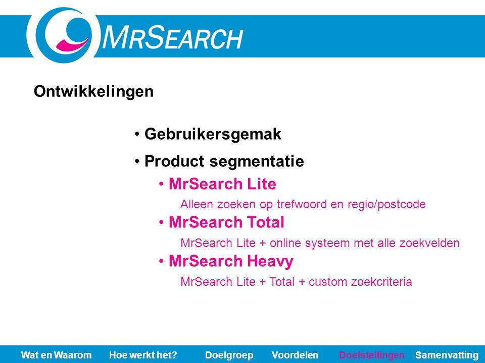 MrSearch Lite Alleen zoeken op trefwoord en regio/postcode