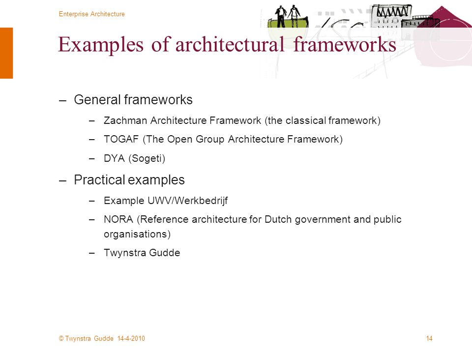 Examples of architectural frameworks