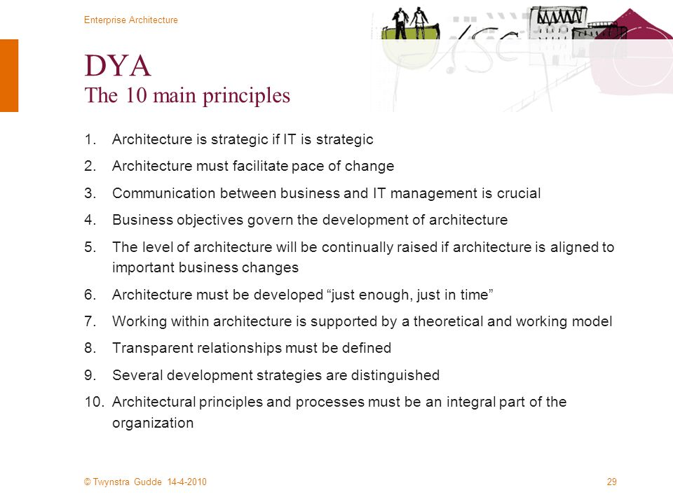 DYA The 10 main principles