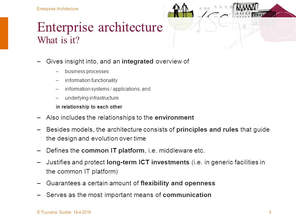 Enterprise architecture What is it