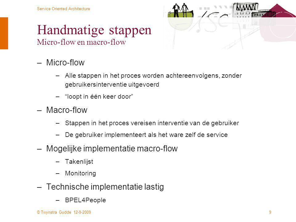 Handmatige stappen Micro-flow en macro-flow