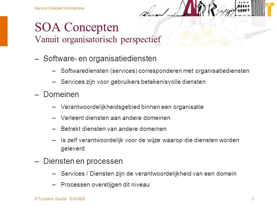 SOA Concepten Vanuit organisatorisch perspectief