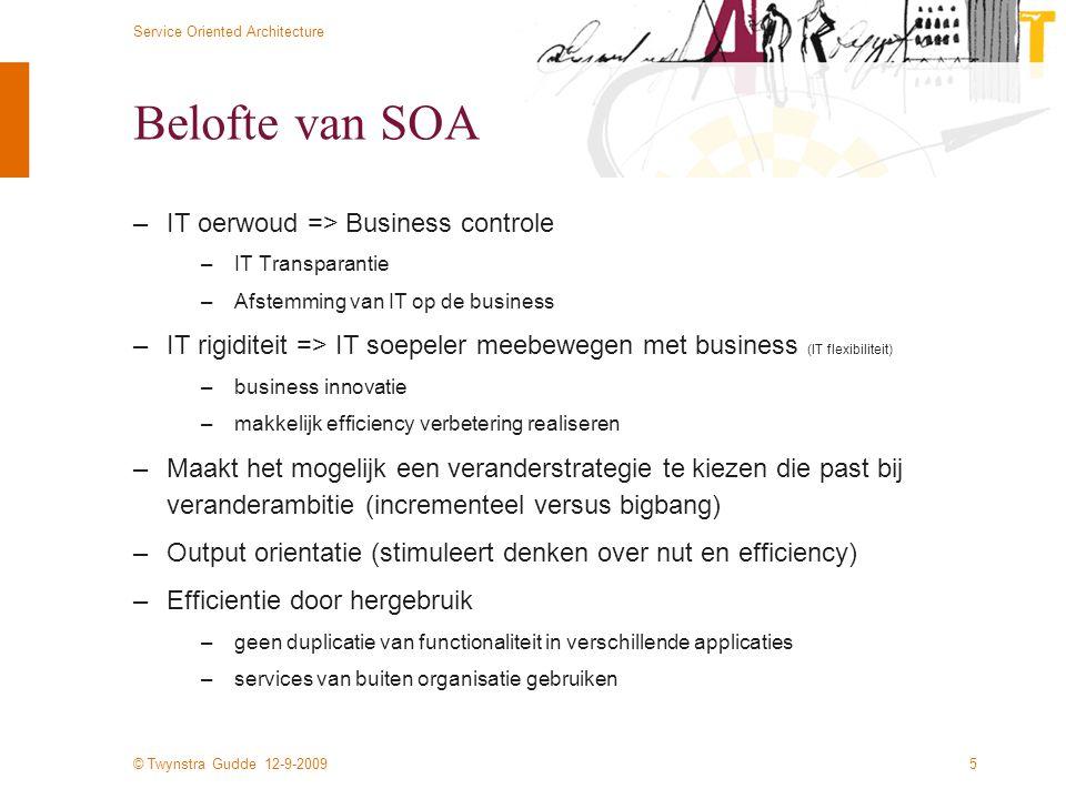 Belofte van SOA IT oerwoud => Business controle