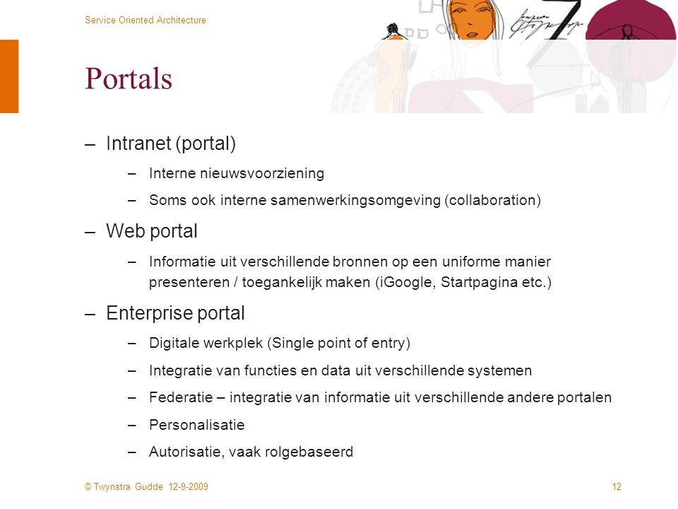 Portals Intranet (portal) Web portal Enterprise portal