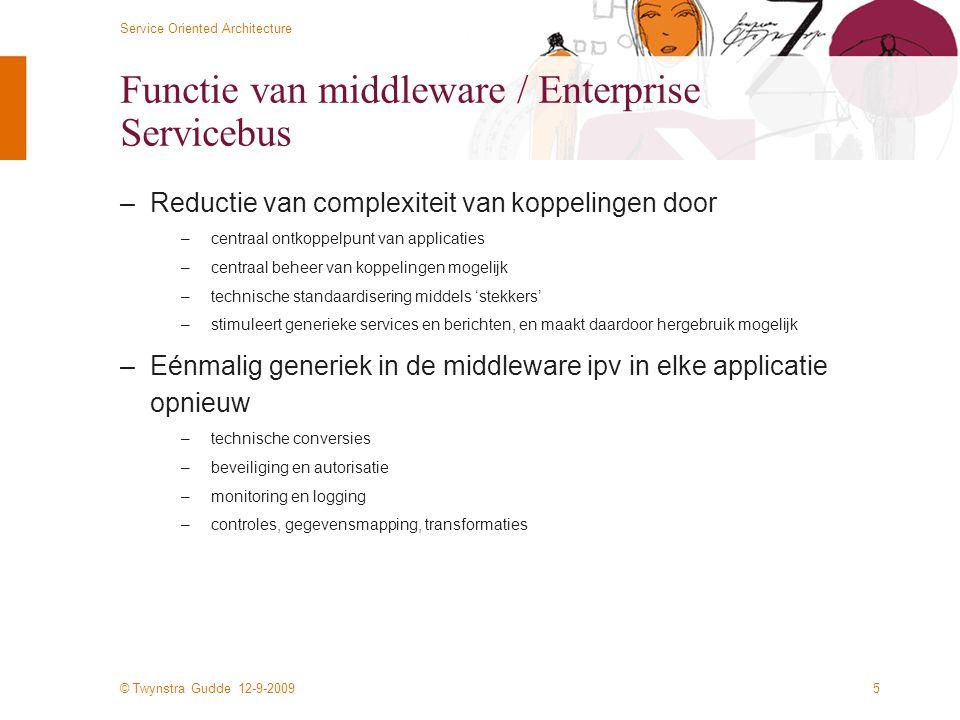 Functie van middleware / Enterprise Servicebus