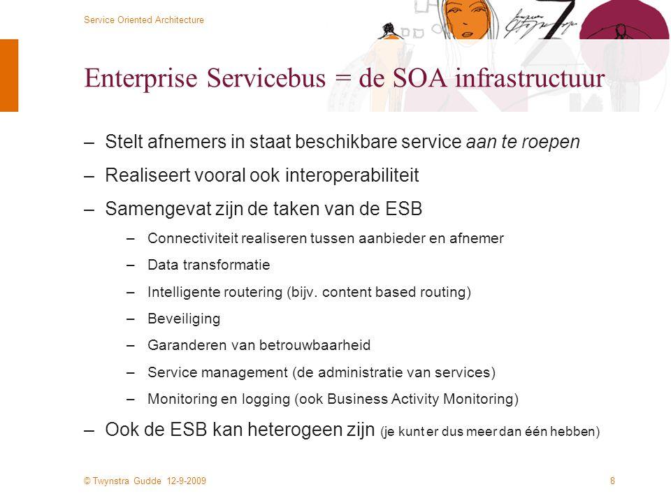 Enterprise Servicebus = de SOA infrastructuur