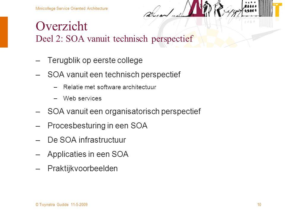 Overzicht Deel 2: SOA vanuit technisch perspectief