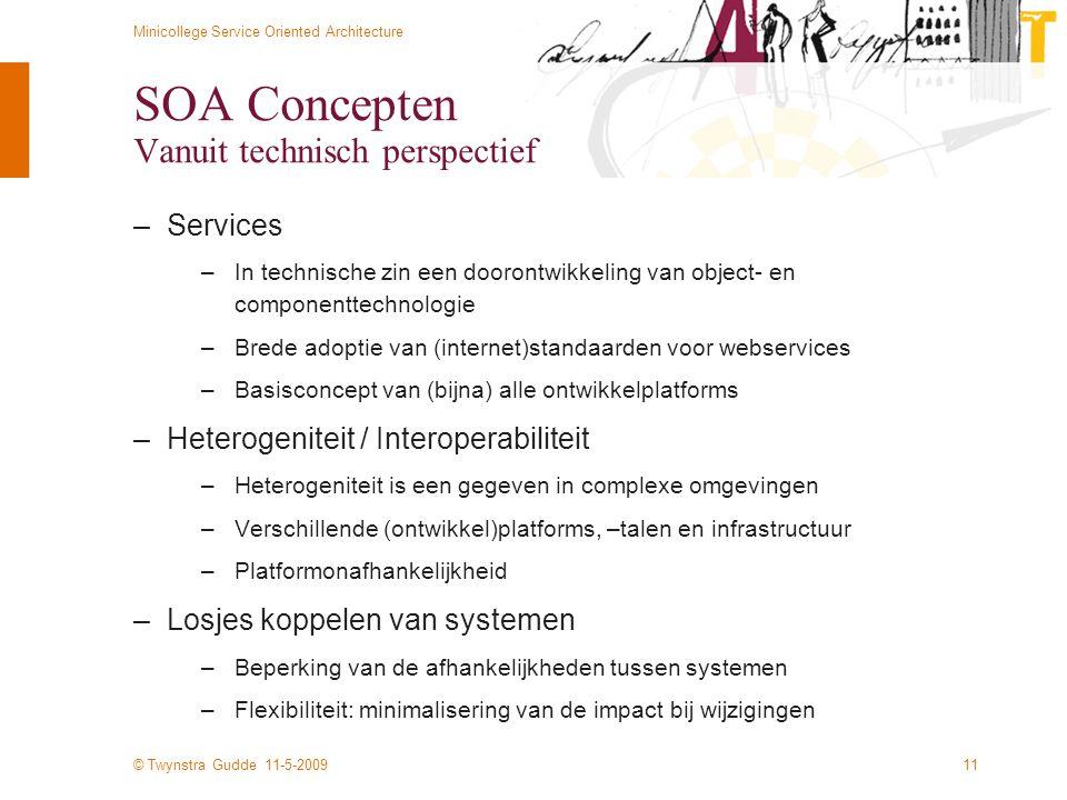 SOA Concepten Vanuit technisch perspectief