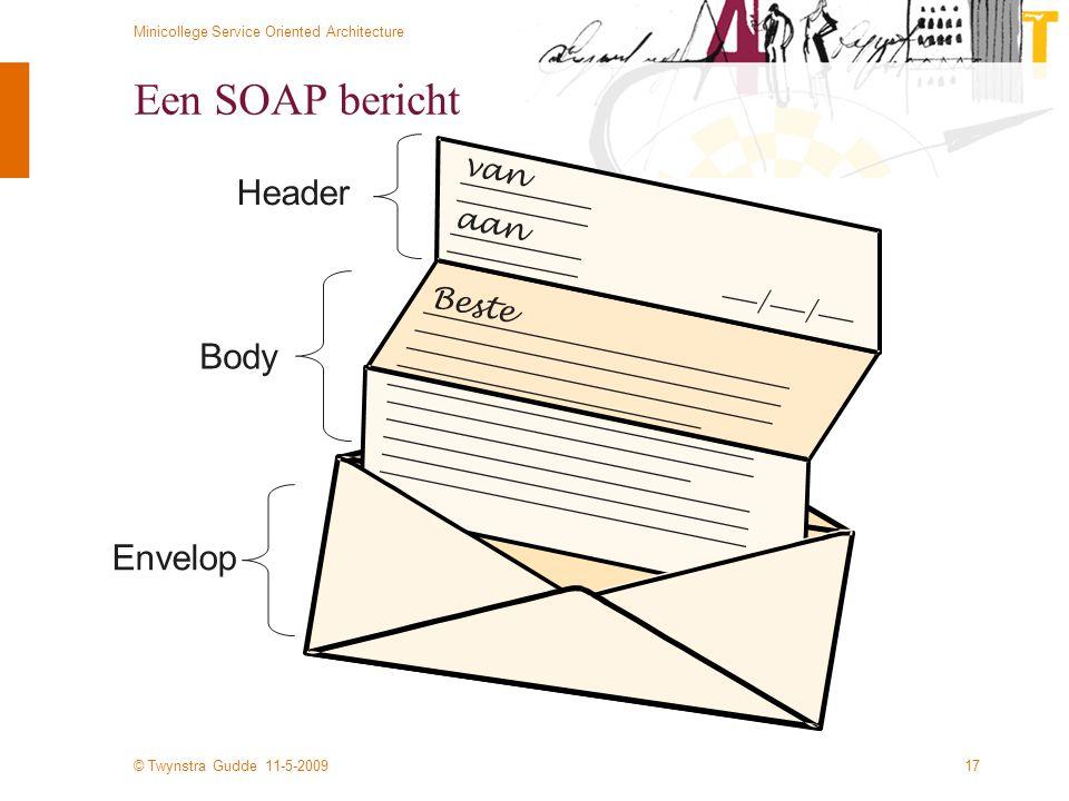 Een SOAP bericht van aan Header Beste / Body Envelop